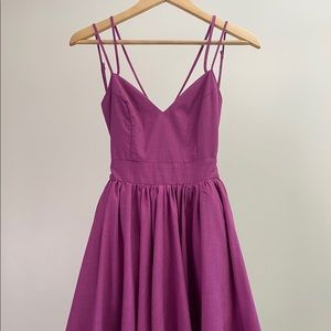 NWT Keepsake the Label Boysenberry Mini Dress